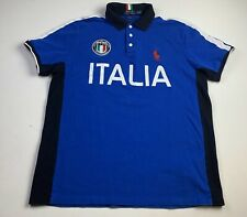 Polo Ralph Lauren big pony rugby shirt blue Italia Futbol
