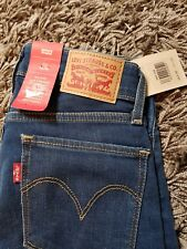 ladies levis jeans 712 slim mid rise slim through hip and thigh  24x30
