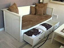 IKEA 'Hemnes'Day-bed, Double (White) with 3 drawers/2 single mattresses