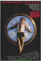 D.O.A. MOVIE POSTER Original SS 27x40 DENNIS QUAID MEG RYAN 1988