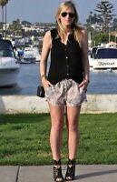 Zara Cachemire Short Imprimé Grande Taille