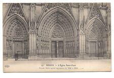 rouen   l'église saint-ouen  façade  style ogival rayonnant de 1846 à 1852