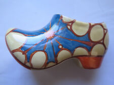FANTASQUE by CLARICE CLIFF BROTH PATTERN SABOT or CLOG OVER PAINTED c1930