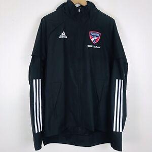 Adidas FC Dallas Full Zip MLS Soccer Jacket FS7826 Black $80 Men's Size Medium