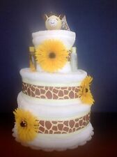 "12"" Boy/Girl Giraffe Baby Shower Gifts Diaper Cake Unique Elegant Centerpieces"