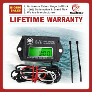 Digital Inductive Tachometer Waterproof Tiny Digital Hour Meter Tachometer Tach