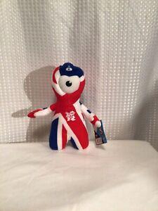 "London 2012 Olympics Mascot ~ Wenlock Union Flag Soft Toy 10"""