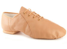 Bloch S0405L Women's Size 8 Medium Tan Lace Up Jazz Soft Jazz Dance Shoes