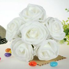 White Foam Roses Wedding Flower Home Party Table Decoration Lot 4pcs Beautiful