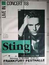 STING  1988  FRANKFURT - orig. Concert Poster - Konzert Plakat  AO  F/N 118x84cm