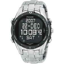 Seiko Pulsar Sport Digital Stainless Steel Bracelet Men's Watch PQ2001