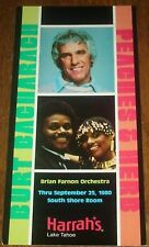 1980 Burt Bacharach / Peaches & Herb Postcard Tahoe
