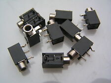 3.5mm Mono Jack Socket PCB Switched Right Angle Mount NA35MNS 10 pieces OM0565
