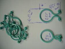 Kabel,Clips,Blumen, Kabeldriller Kabelbündel bis 24mm 25 Stk Türkis Sonderposten