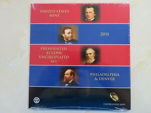 2011 P & D Presidential Dollars set Uncirculated US Mint Issued 8 coins SEALED
