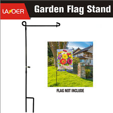Garden Flag Stand Premium Flags Pole Holder Metal Powder-Coated Weather-P 13inch