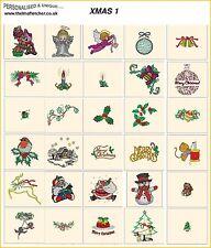 Christmas/Holidays Embroidery Design CDs