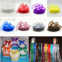 "5yards 1"" (25mm) Satin Edge Organza Ribbon Bow Wedding Decoration Lace Craft DIY"