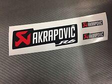 3 Adesivi Stickers AKRAPOVIC R6 Racing resistente al calore