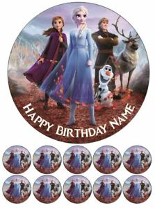 Frozen 2 Elsa Anna Olaf Edible Cake Toppers Wafer or Icing