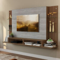 "OKU 55""  Wall Mounted Rack w/ Central Panel Living Room Decoration Sky"