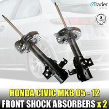 Pour Honda Civic Mk8 Avant Amortisseurs Shockers X2 FN FK 06 > 1.4 1.8 2.2 VTEC