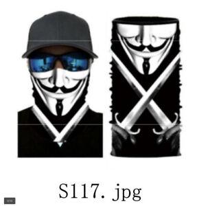 Bandana tubolare sciarpa microfibra traspirante anonymous,  scaldacollo