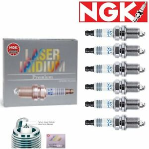 6 pcs NGK Laser Iridium Spark Plugs 2011-2012 for Infiniti G25 2.5L V6 Kit