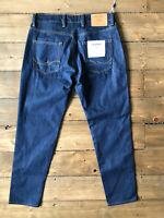 Jack Jones Cropped Frank Leen CR 109 Tapered Dark Blue Jeans W30 L34
