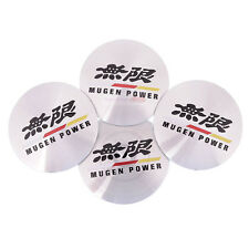 4pcs 55mm Wheel Center Hub Caps Cap Emblem Sticker For MUGEN POWER