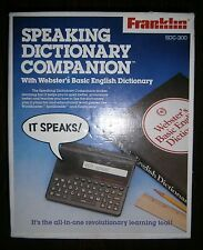 FRANKLIN SDC-300 SPEAKING DICTIONARY COMPANION With Webster's Basic English-Box