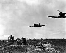 "Marine Corsair Fighter-Bombers aiding Marines 8""x 10"" Korean War Photo 3"