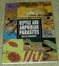 Reptile and Amphibian Parasites Hardback Guide Book Lizard Turtle Toads Gecko