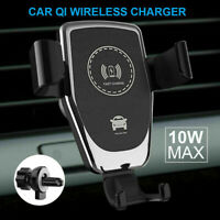 Qi Wireless Charger Fast Charging Car Mount Phone Holder Automatic Clamping-/