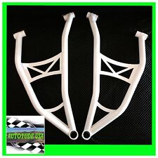 ARCHED CHROMOLY LOWER A-ARMS / CONTROL ARMS POLARIS 2014-16 RZR 4 XP 1000 WHITE!
