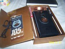 HARLEY DAVIDSON GIFT BOX SET 105th Anniversary Wallet Wrist Band Key Chain flags