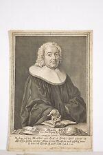 Portrait XVIII° Johann Martin Christell Pasteur Eglise Luthérienne PA Kilian Gr.