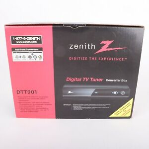 Zenith Digital TV Tuner Converter Box DTT901 In Original Box