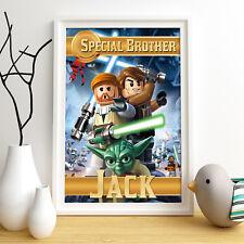 STAR WARS LEGO Personnalisée affiche d'impression A4 Mur Art Personnalisé Nom ✔ livraison rapide ✔