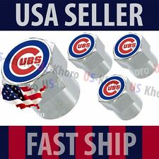 Chicago Cubs Logo Valves Caps Stems Covers Chromed Wheel Tire MLB Baseball *USA*