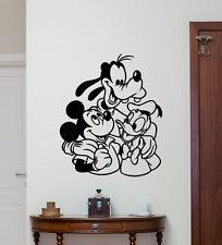 Mickey Mouse Goofy Donald Duck Wall Decal Vinyl Sticker Disney Poster Art 267hor