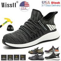 Men's Metal Steel Toe Boots Net Sneakers Safety Work Shoes Lightweight US 5-15