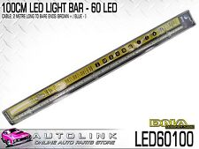 DNA 100CM LED LIGHT BAR - 60 LEDS 12V 1000x18x15mm 2 METRE CABLE