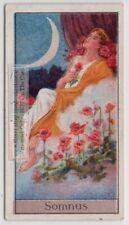 Somnus Hypnos  Greco Roman God Of Sleep  Myth 1920sTrade Ad Card