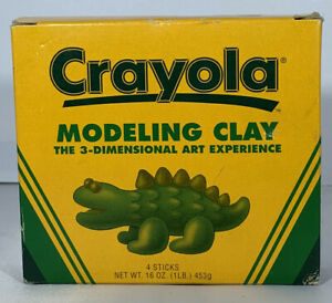 1998 Vintage Crayola Modeling Clay 4-Colored Non-Hardening New