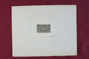 Tunesia. Scott 196.  Engraved Die Proof. Artist Signed, Only 18-28 copies exist.