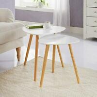 Bjorn - Scandinavian Modern Set of 2 Living Room Nested Coffee End Tables