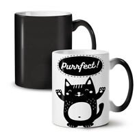 Cat Perfect Joke Funny NEW Colour Changing Tea Coffee Mug 11 oz | Wellcoda