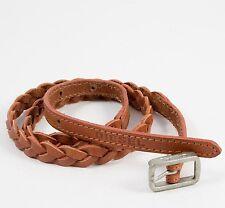 Diesel Brecit Sz2 65/26 Womens Girls Brown Leather Skinny Belt BNWT 23 -27 Jeans