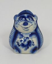 Russisch Porzellan Figur Hedgehog Zahnstocher Halter #0196